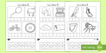Ficha de actividad: La letra B - lecto, leer, lectura, sonidos, letra , lecto-escritura, fonemas, sonidos, consonantes, letra b, fone