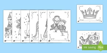 Fairy Tale Mindfulness Coloring Activity Sheets - coloring, mindfulness, fairy tale, art, worksheets