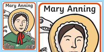 Mary Anning Display Poster - mary anning, display poster, display, poster