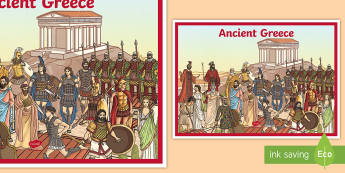 Ancient Greece A2 Display Poster - Ancient Greece Display Poster - ancient greece, display, troy, chariot, greek, display, soldiers, gr