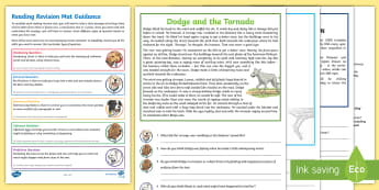 Year 4 Reading Revision Activity Mat Pack 2 - tornado, natural disasters, retrieval, inference, author, USA, Kansas, America, MIdwest, Tornado all