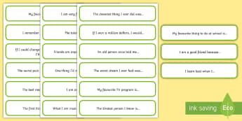 Journal writing sentence starter Cut-Outs - Journal, journal writing, writing, inspiration, reflection,Australia