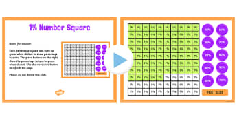 Percentage Number Square PowerPoint 1 Percent - percent, number