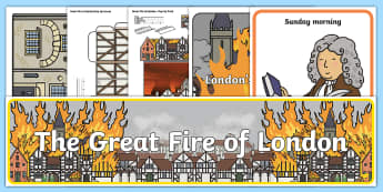 The Great Fire of London Discover and Learn Display Pack - classroom display, craft activity, lettering, title, banner