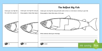 The Belfast Big Fish Differentiated Activity Sheets - World Around Us, design fish