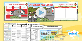 Geography: Let's Go to China: My School Your School Year 2 Lesson Pack 4