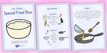 Special Egg Fried Rice Recipe Cards - australia, recipe, cards