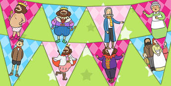 The Emperor's New Clothes Bunting - story books, flags, display