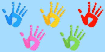Editable Handprints - handprints, hand prints, ourselves, display