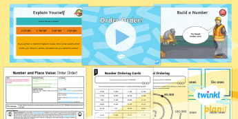 PlanIt Y5 Number and Place Value Lesson Pack Ordering and Comparing (1) - digit, Read, write, million, digit value