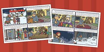 Babushka Story Cards - babushka, story, cards, christmas, russian