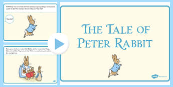 The Tale of Peter Rabbit PowerPoint - peter rabbit, powerpoint