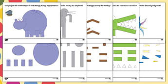Shape Activities Pack to Support Teaching on The Enormous Crocodile - Roald Dahl, The Enormous Crocodile