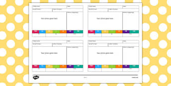 EYFS Short Photo Observation Templates - short, photo, observation