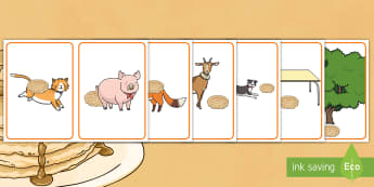 Where is the Runaway Pancake? Positional Language Picture Cards - EYFS, Early Years, The Runaway Pancake, traditional tales, pancake day, Shrove Tuesday, maths, posit