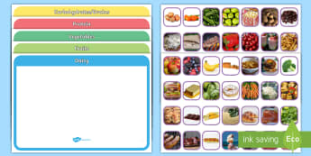 Photo Food Group Sorting Activity - photo, food group, sorting, activity, sort, food, group