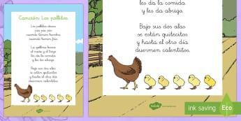 Canción: Los pollitos - Mother's Day in Spain, el día de la Madre, pollitos, canción, canción popular, songs in Spanish,