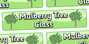 Mulberry Tree Themed Classroom Display Banner - Themed banner, banner, display banner, Classroom labels, Area labels, Poster, Display, Areas