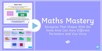 Year 6 Measurement Area and Perimeter Maths Mastery Activities PowerPoint
