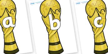 Phoneme Set on World Cup Trophy - Phoneme set, phonemes, phoneme, Letters and Sounds, DfES, display, Phase 1, Phase 2, Phase 3, Phase 5, Foundation, Literacy
