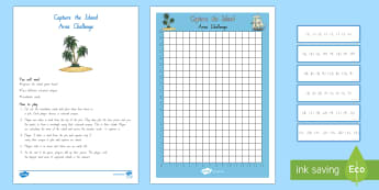 Coordinates and Area Island Game - Co-ordinates, Area, Game, New Zealand, Maths, Geometry