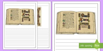 The Book of Kells Writing Frames - Monastic Ireland, early christian ireland, tourist attraction, dublin, trinity College, book of kell