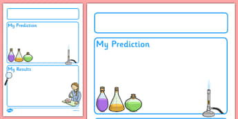 Science Experiment Recording Sheet - EY & KS1 - Science, experiment, writing template, frame, experiment, record, what happened, method, knowledge and understanding of the world