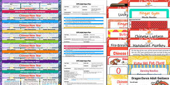 EYFS Chinese New Year Bumper Planning and Resource Pack - EYFS, early years planning, adult led, finger gym