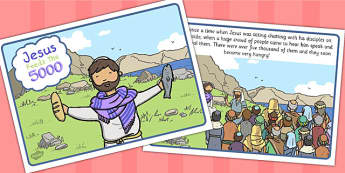The Loaves And Fishes Story Sequencing (A4) - the Loaves and the Fishes, loaves, fishes, Jesus, food, the feeding of the five thousand, crowd, sequencing, story sequencing, story resources, A4, cards, feeding, God, teaching, 5000, people, five loaves