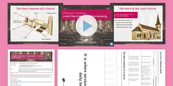 Churches and the Community Lesson Pack - Christian Practices; church; parish; outreach
