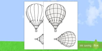 Summer Hot Air Balloon Art Activity Sheet - ROI, Hot Air balloon, Activity, Art, Summer,Irish, worksheet