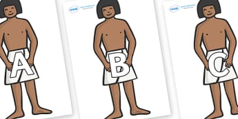 A-Z Alphabet on Egyptian Workers - A-Z, A4, display, Alphabet frieze, Display letters, Letter posters, A-Z letters, Alphabet flashcards