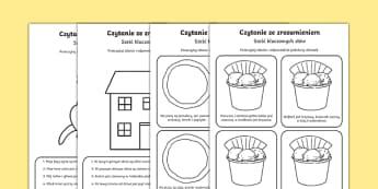 ReKarta Czytanie ze zrozumieniem Sześć słów kluczowych po polsku , worksheet