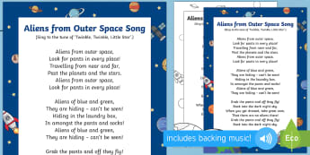 Aliens from Outer Space Song - EYFS, Early Years, Aliens Love Underpants, Claire Freedman, space, aliens.
