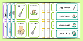 Pack Word SC/SK Cards - pack, word, sc/sk, sc/sk sound, word cards, sc/sk cards, sc/sk words, sc, sk