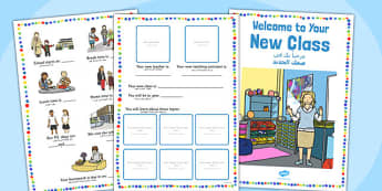 Welcome to Your New Class Booklet Arabic Translation - arabic