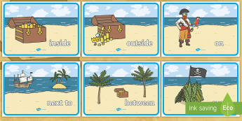 Pirate Positional Language Posters - positional language, pirates, positional language posters, pirate positional language, positions, positions posters