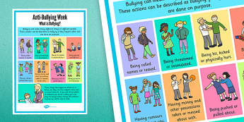 Anti-Bullying Posters - What is Bullying? anti-bullying, bullying, poster, display