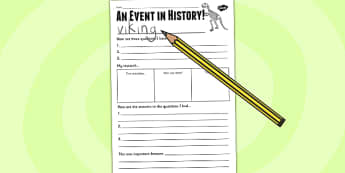 History Event Writing Frame - history, writing template, writing