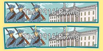 1916 Rising Display Banner - Easter 1916 Rising, irish history, display banner