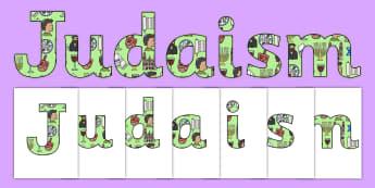 Judaism Display Lettering-judaism, display, lettering, display lettering, judaism display, judaism lettering, jewish, religion, RE, letters, judiasm
