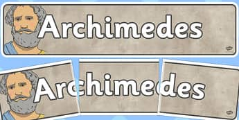 Archimedes Display Banner - archimedes, display banner, display