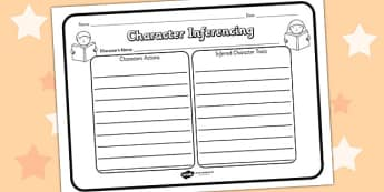Character Inferencing Reading Comprehension Activity - character inferencing, comprehension, comprehension worksheet, character, discussion prompt, reading