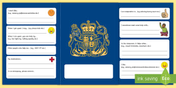 SEN Passport Cards - autism passport, communicating needs, supporting communication, ASC, ASD, SEN, disability