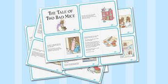 The Tale of Two Bad Mice Story Cards - two bad mice, story cards