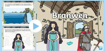 Pŵerbwynt Branwen - branwen, chwedlau, myths, bendigeidfran, efnisien, princess, tywysoges,Welsh