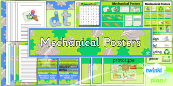 PlanIt - DT LKS2 - Mechanical Posters Additional Resources - planit, design and technology, Go Green, Eco, recycle, warrior, environment