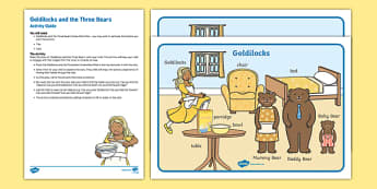 Goldilocks and the Three Bears Activity Busy Bag Resource Pack for Parents