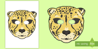 Cheetah Role Play Mask - safari, zoo, africa, india, animals