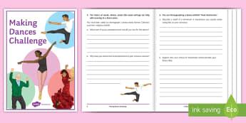 Making Dances Challenge Activity Booklet - choreography, , creative , motif, ks3 , ks4 , phrase, movement